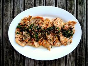 Chicken, sauteed chicken cutlets with tarragon 1