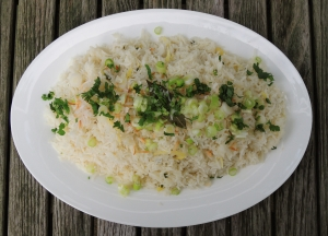 Rice, white rice, coconut gingerroot rice (Southeast Asian) 1