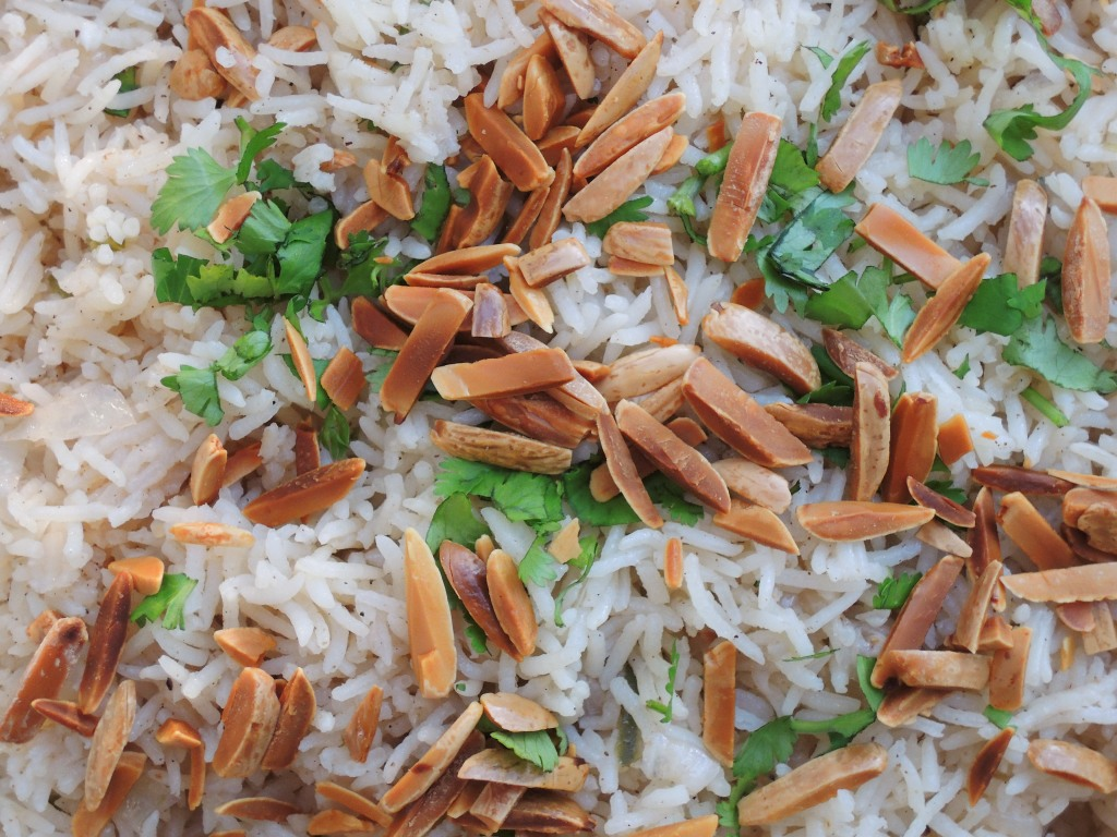 Rice, white rice, pilaf with Indian spices 2