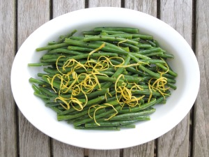 Vegetables, beans, French, blanched, with lemon 1