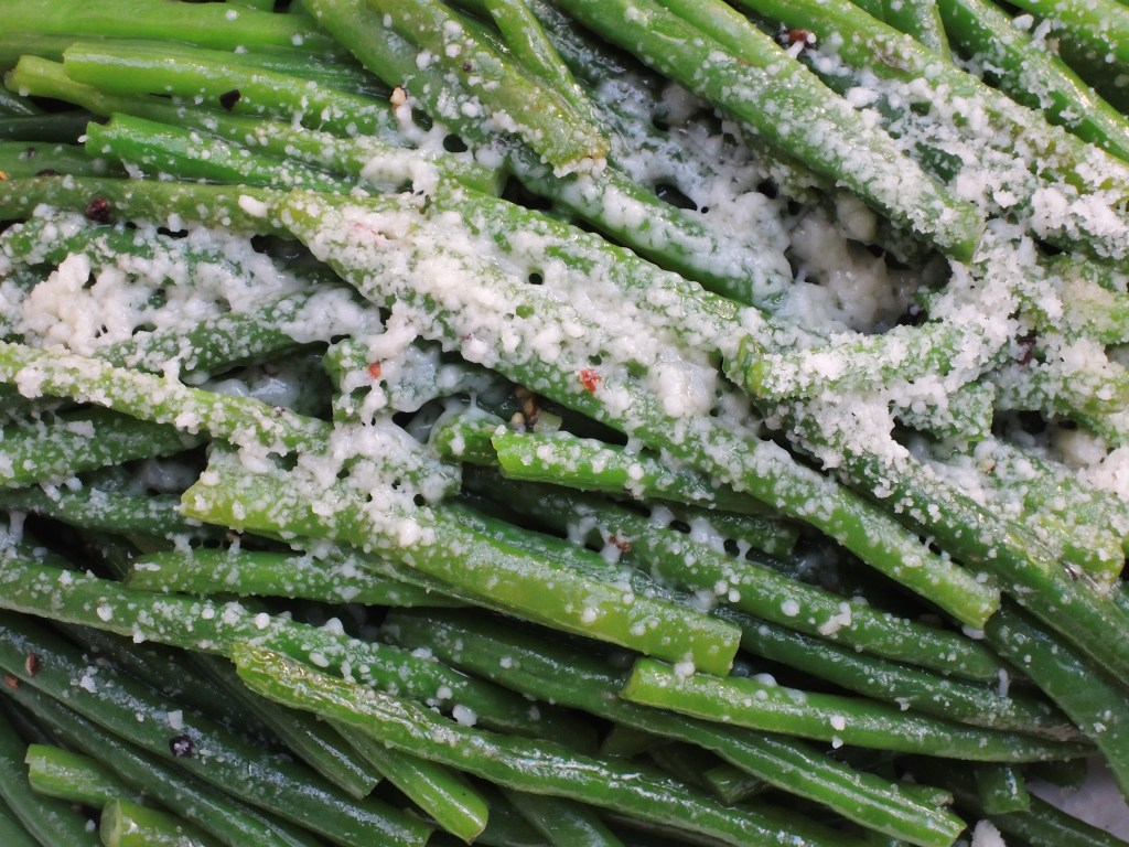 Vegetables, beans, French, blanched, with Parmesan 2