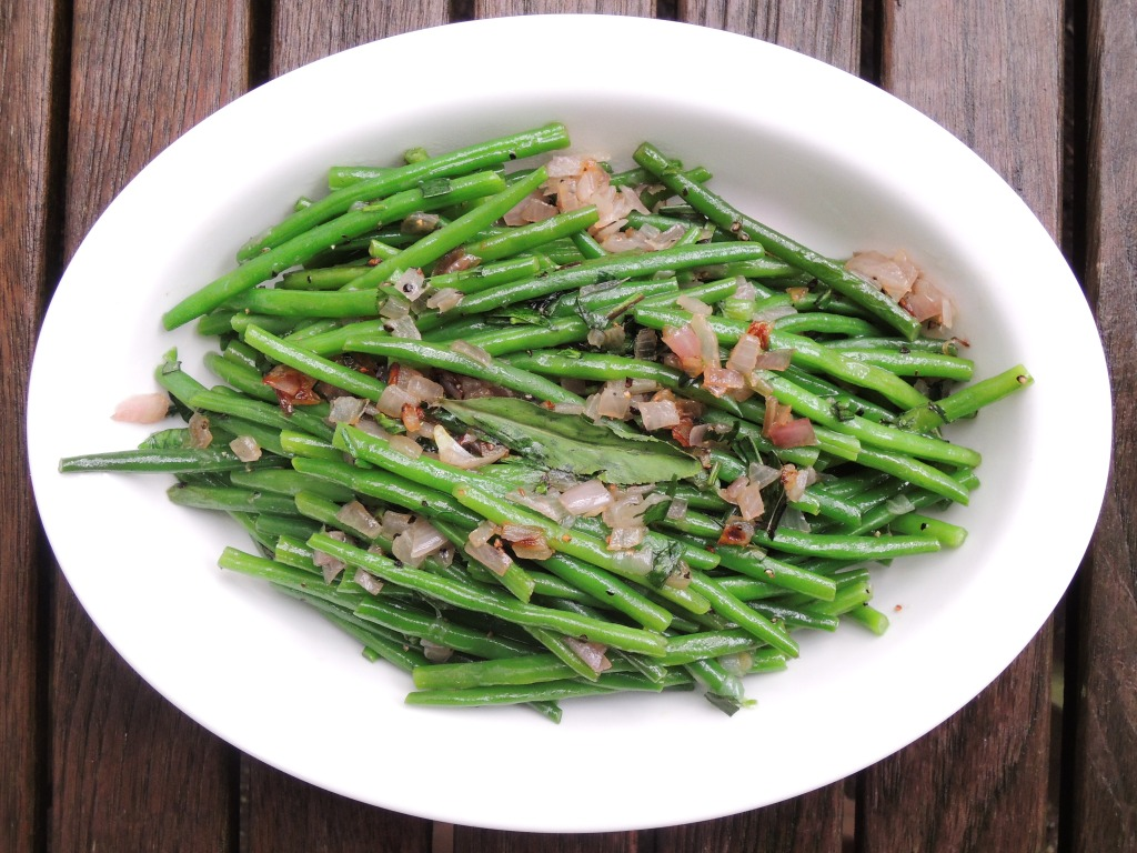 Vegetables, beans, French, blanched, with tarragon 1