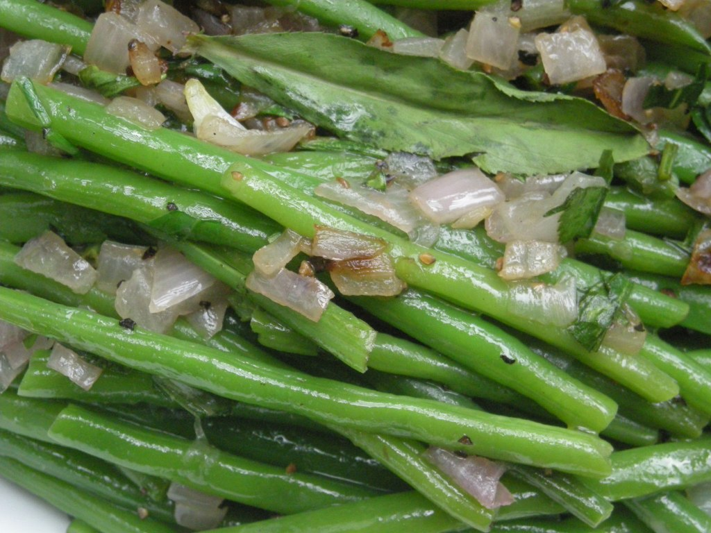 Vegetables, beans, French, blanched, with tarragon 2