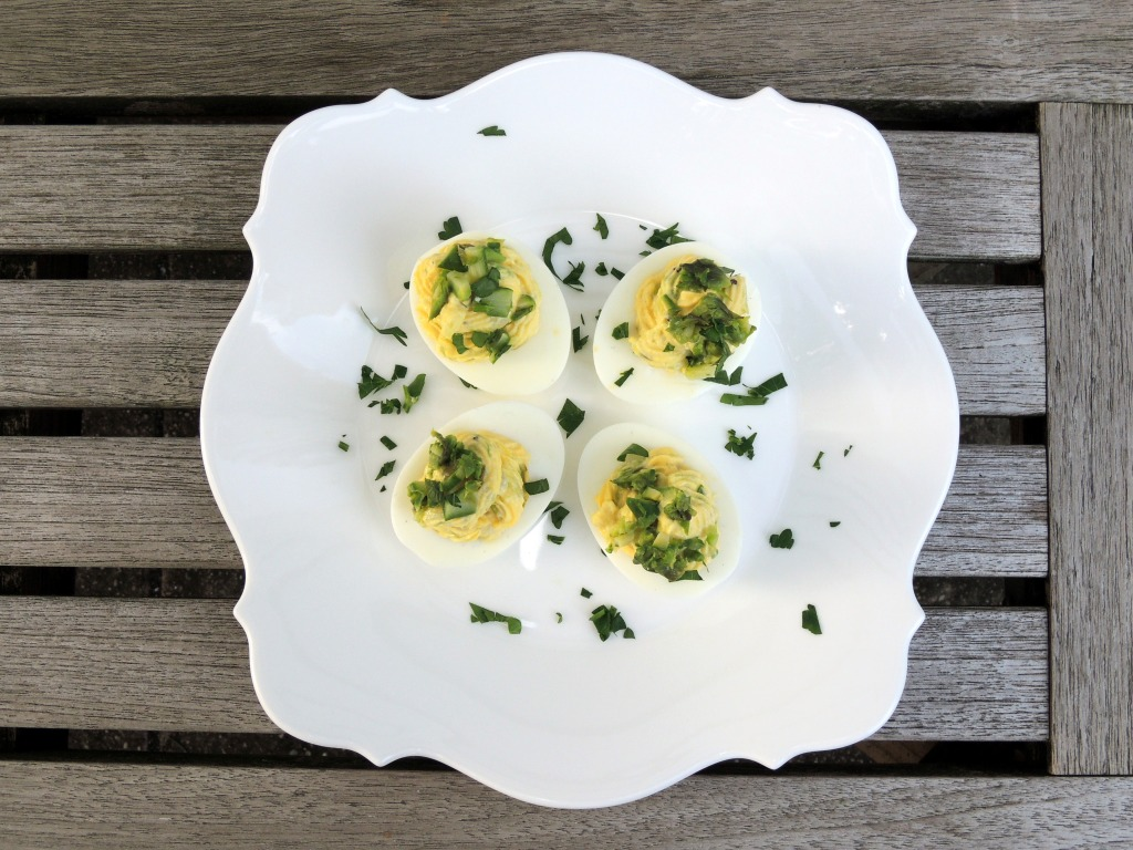 Appetizers, eggs, asparagus stuffed eggs 1