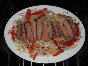 Pasta, capellini, Vietnamese-style capellini with grilled steak 1