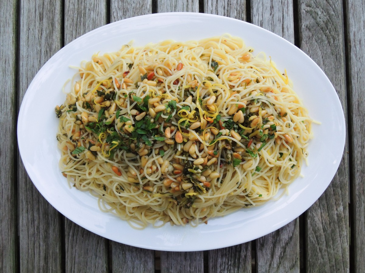 CAPELLINI WITH LEMON AND PINE NUTS – Now You're Cooking!