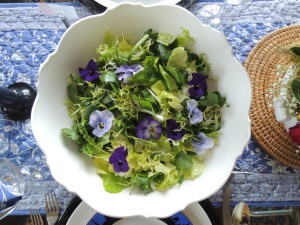 Salads, green, bibb lettuce, mint and watercress salad with Sherry vinaigrette 1