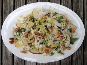 Salads, green, salade d'endive au roquefort (Belgian) 1