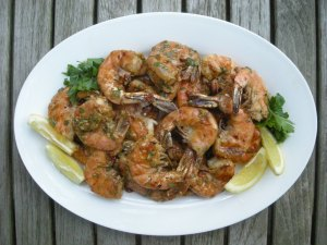 Shrimp, pan-grilled jumbo shrimp remoulade 1