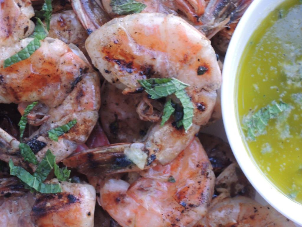 Shrimp, pan-grilled jumbo shrimp with lemon and oregano (Greek) 2