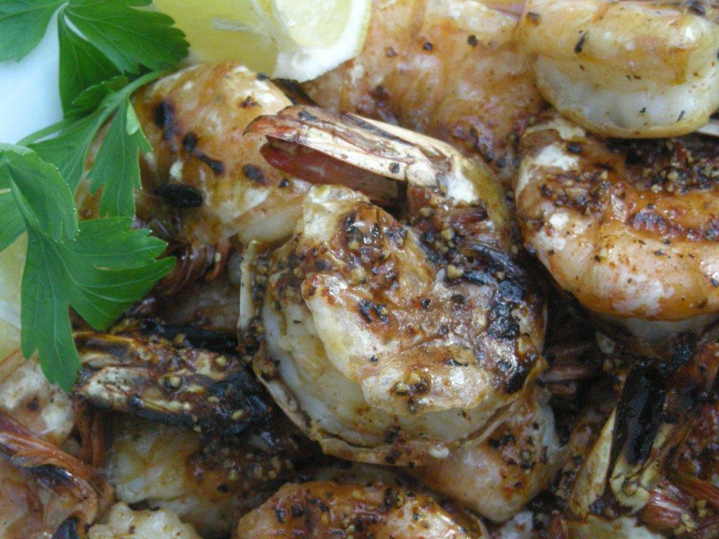 Shrimp, pan-grilled, New Orleans barbecued shrimp 2