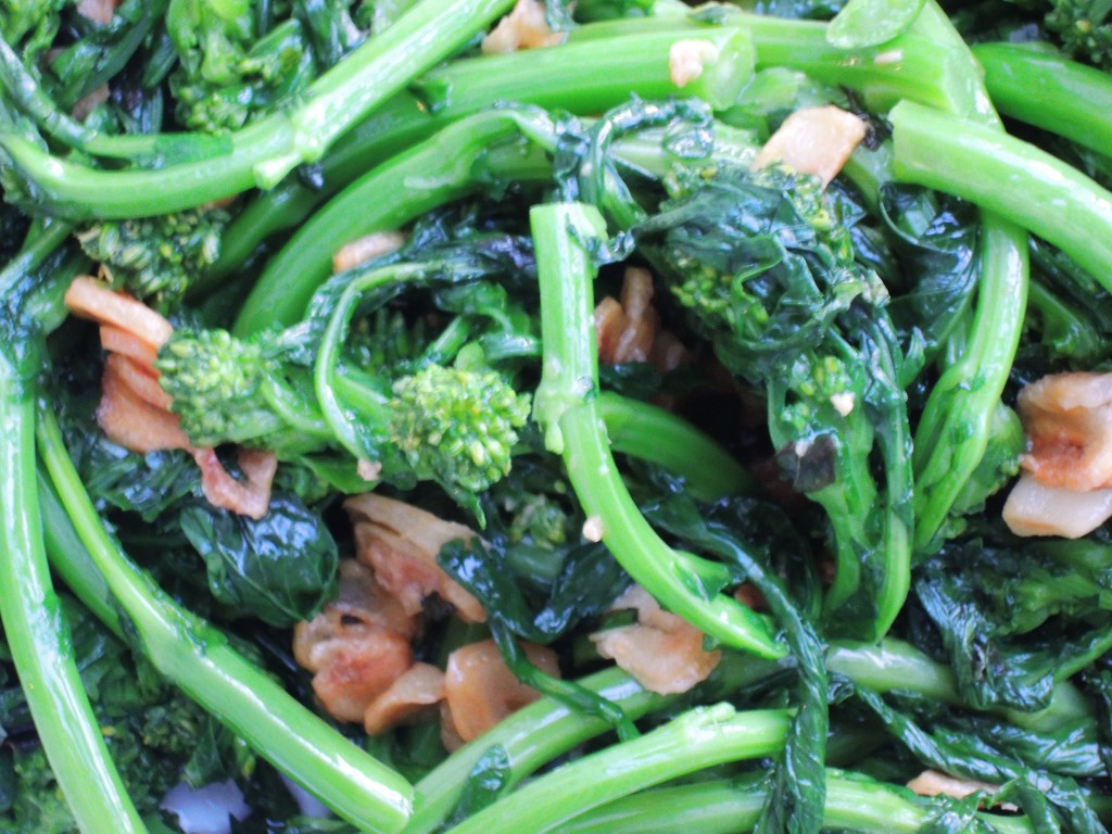 Vegetables, broccoli, steamed, broccoli rabe with garlic 2