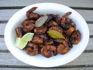 Appetizers, shrimp, pickled, Diana Kennedy's camarones en escabeche rojo 1 (2)