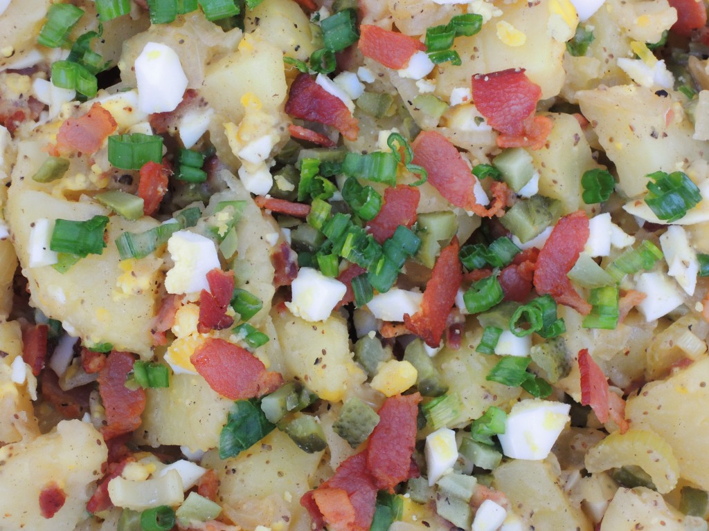 Salads, potato, warm German potato salad with bacon 2