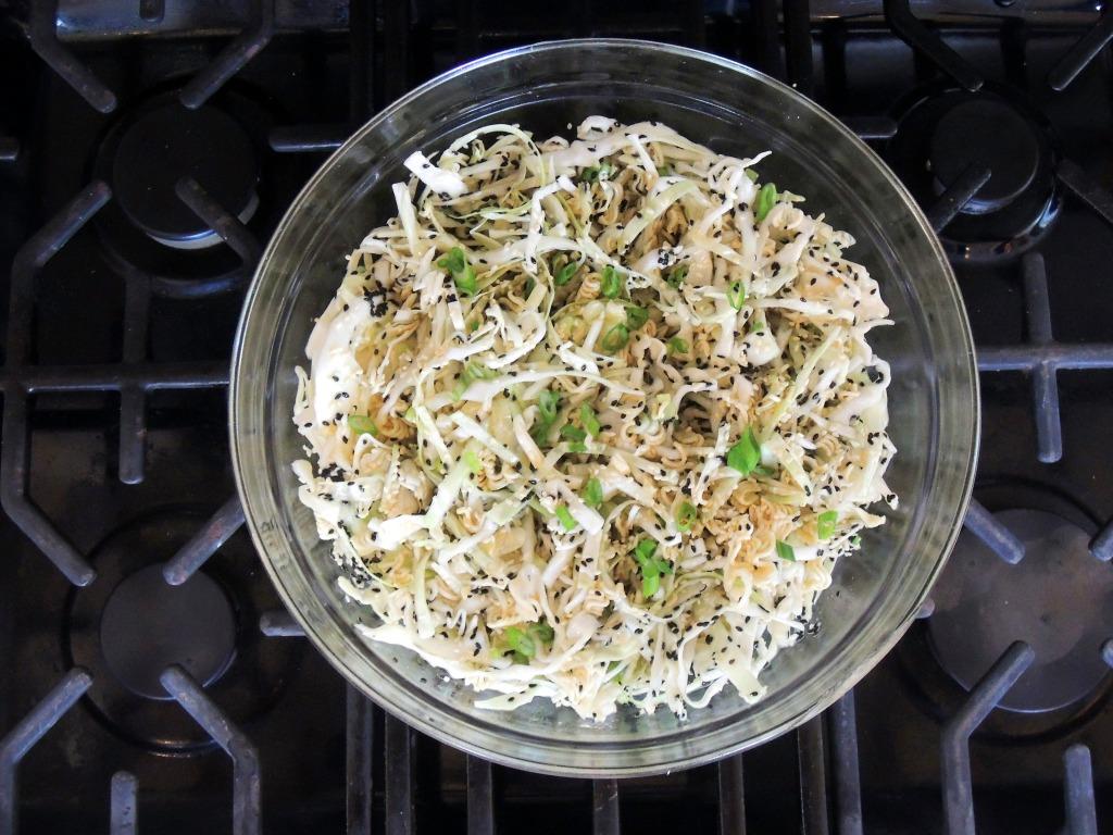 Salads, slaw, coleslaw, Hawaiian sesame coleslaw 1
