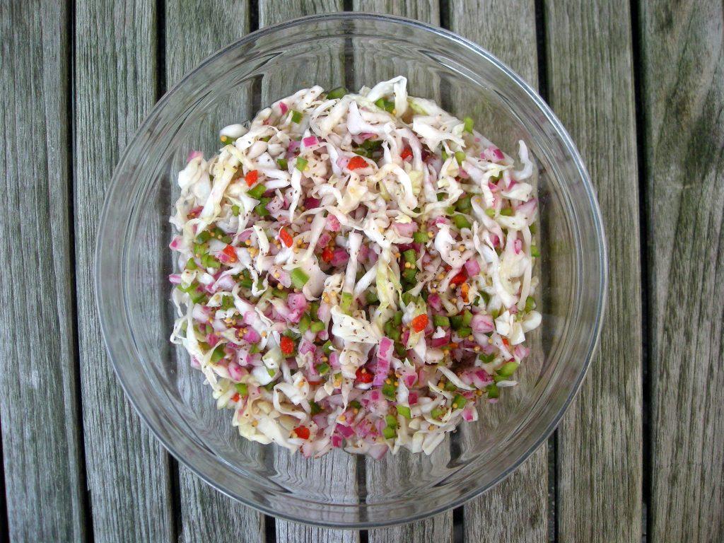 Salads, slaw, coleslaw, Marty's marinated coleslaw (Kansas City)  1