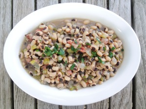 Beans, hoppin' John (black-eyed peas from the American south) 2