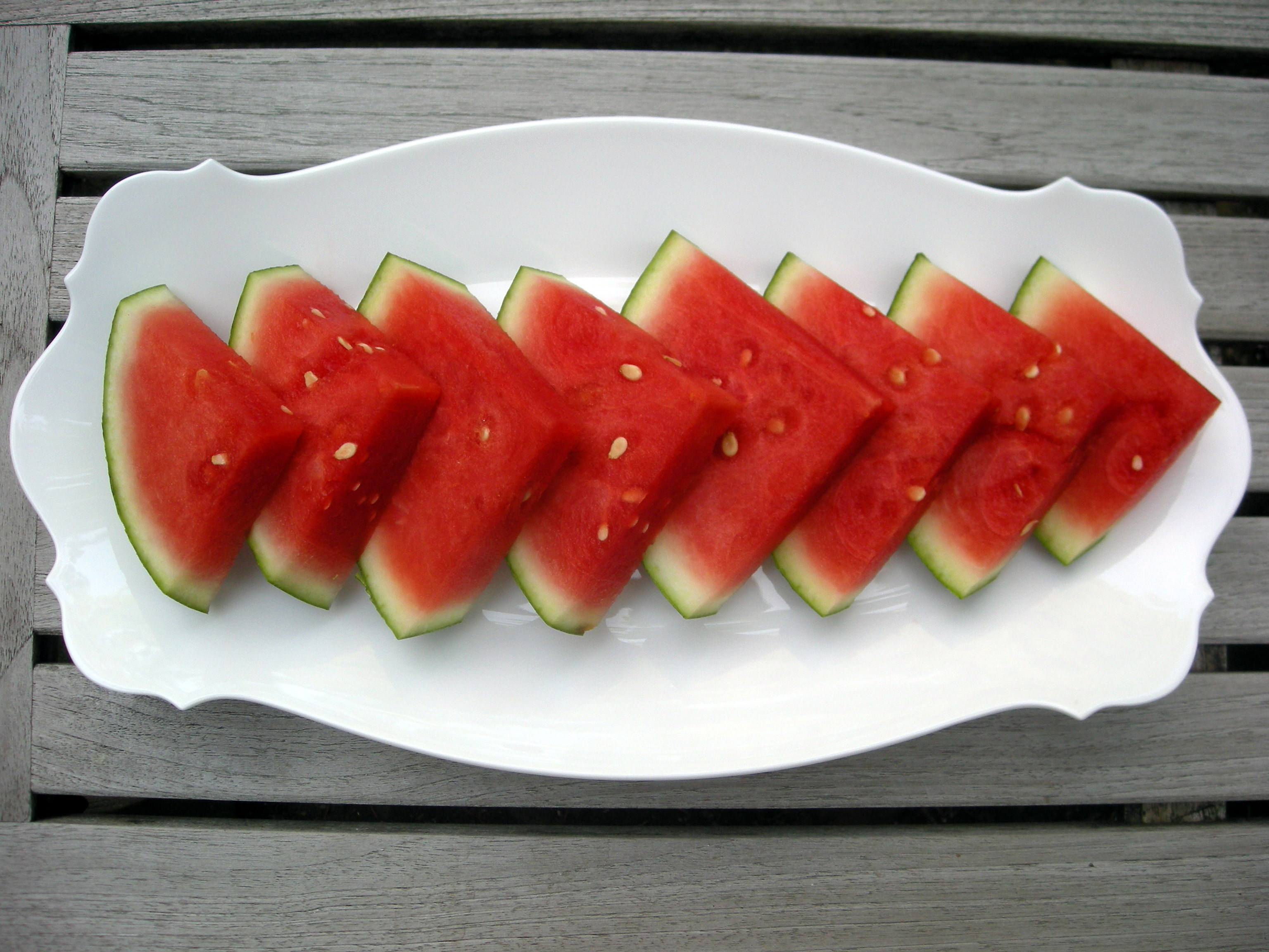 Tequila- Soaked Watermelon Wedges Recipe — Dishmaps