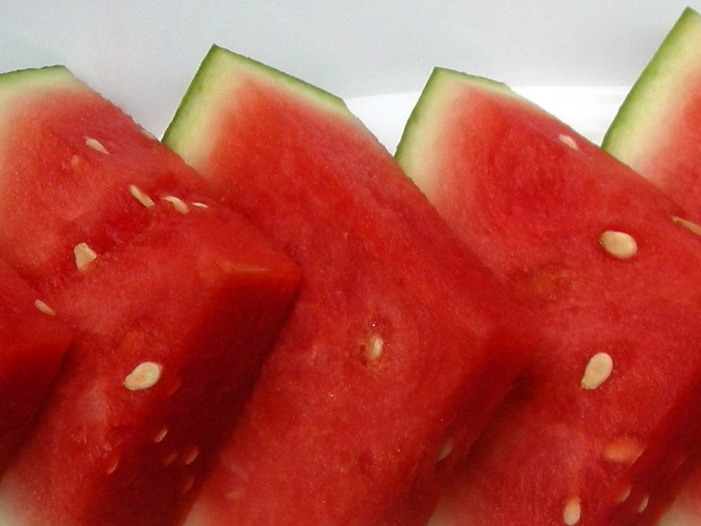 Desserts, fruit, fresh, watermelon wedges soaked in tequila 3