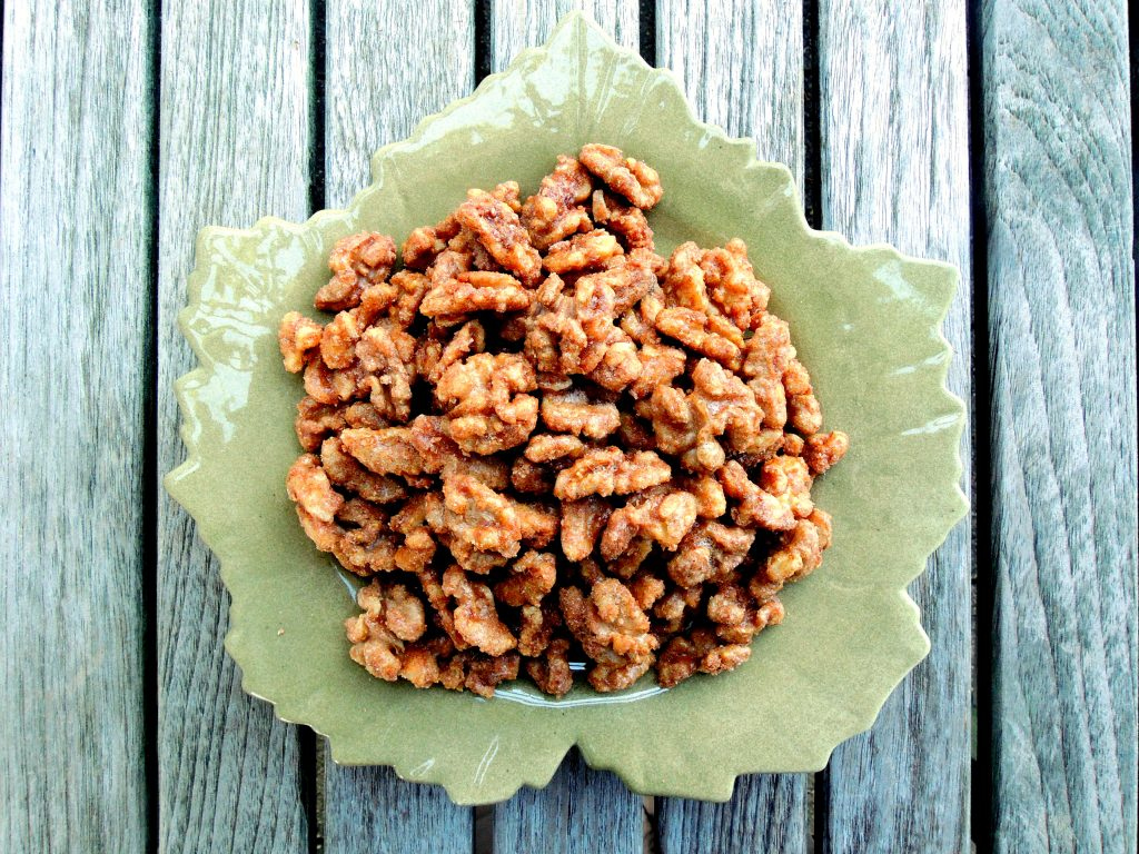Appetizers, nuts and seeds, sugared walnuts 1