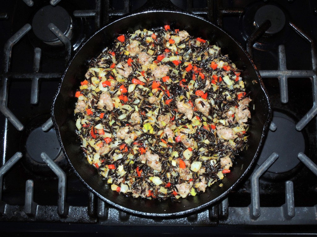 Rice, wild rice with fennel, red peppers and sausage 1 (2)