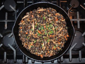 Rice, wild rice with mushrooms 1