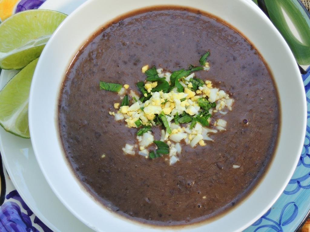 Soups, bean, black bean soup with rum 3