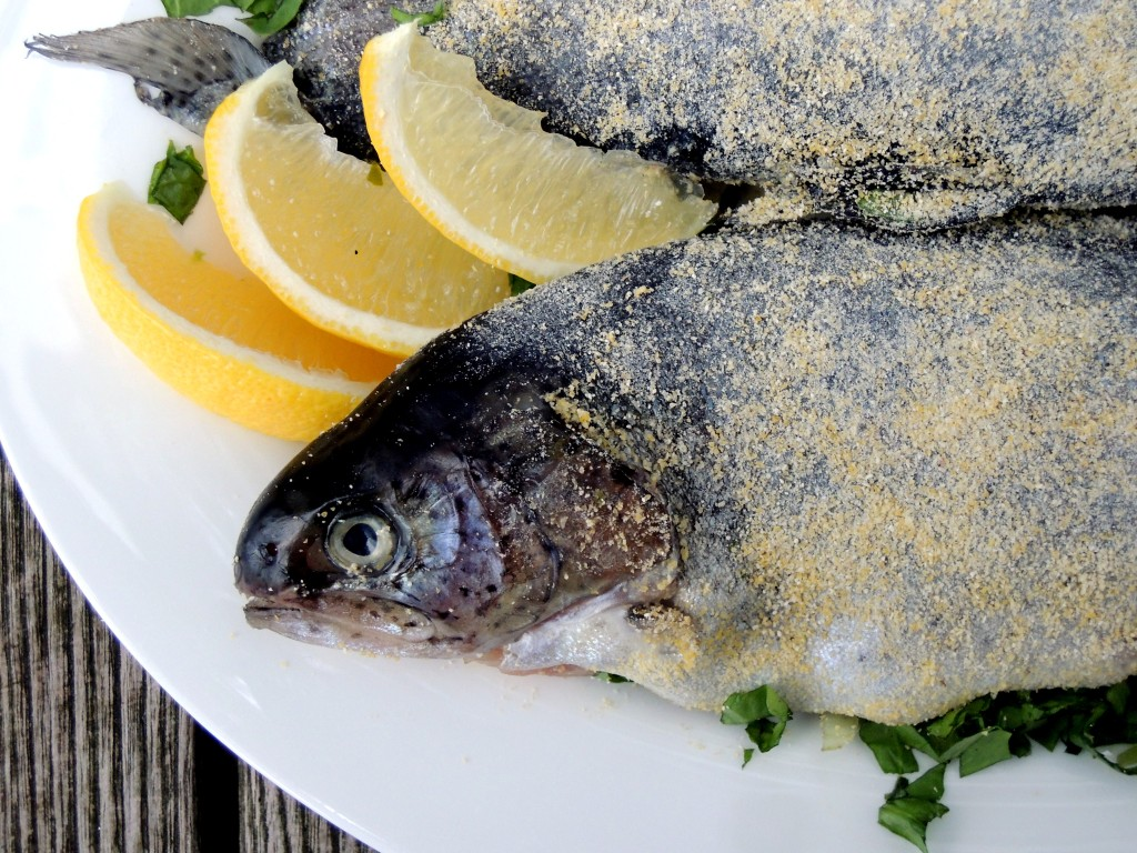 Fish, trout, sauteed trout with escarole 2
