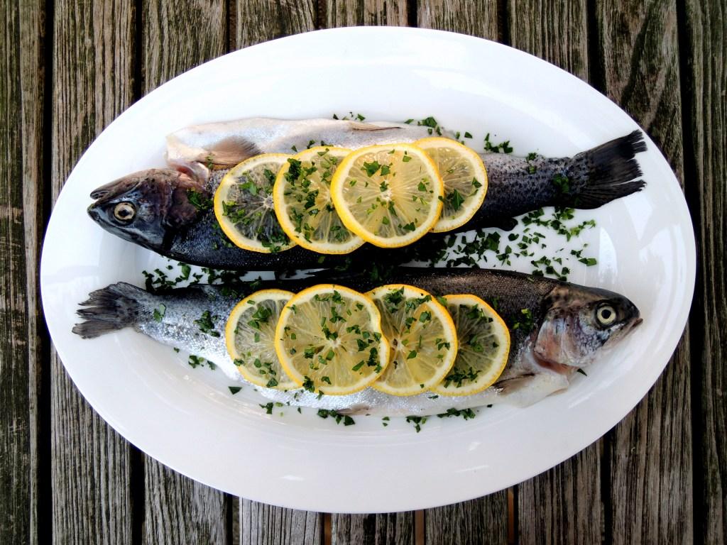 Fish, trout, truites meuniere 1