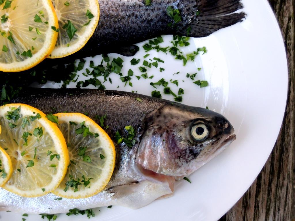 Fish, trout, truites meuniere 2