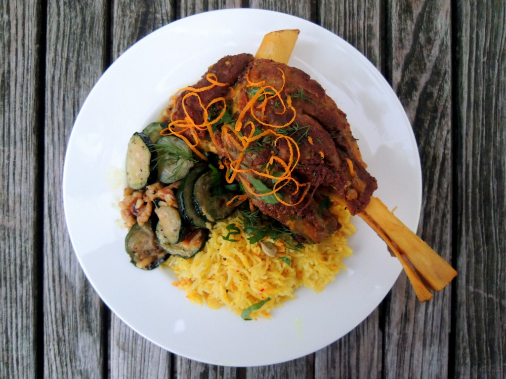 Lamb, lamb shanks braised in rose water, saffron and Persian spices 3
