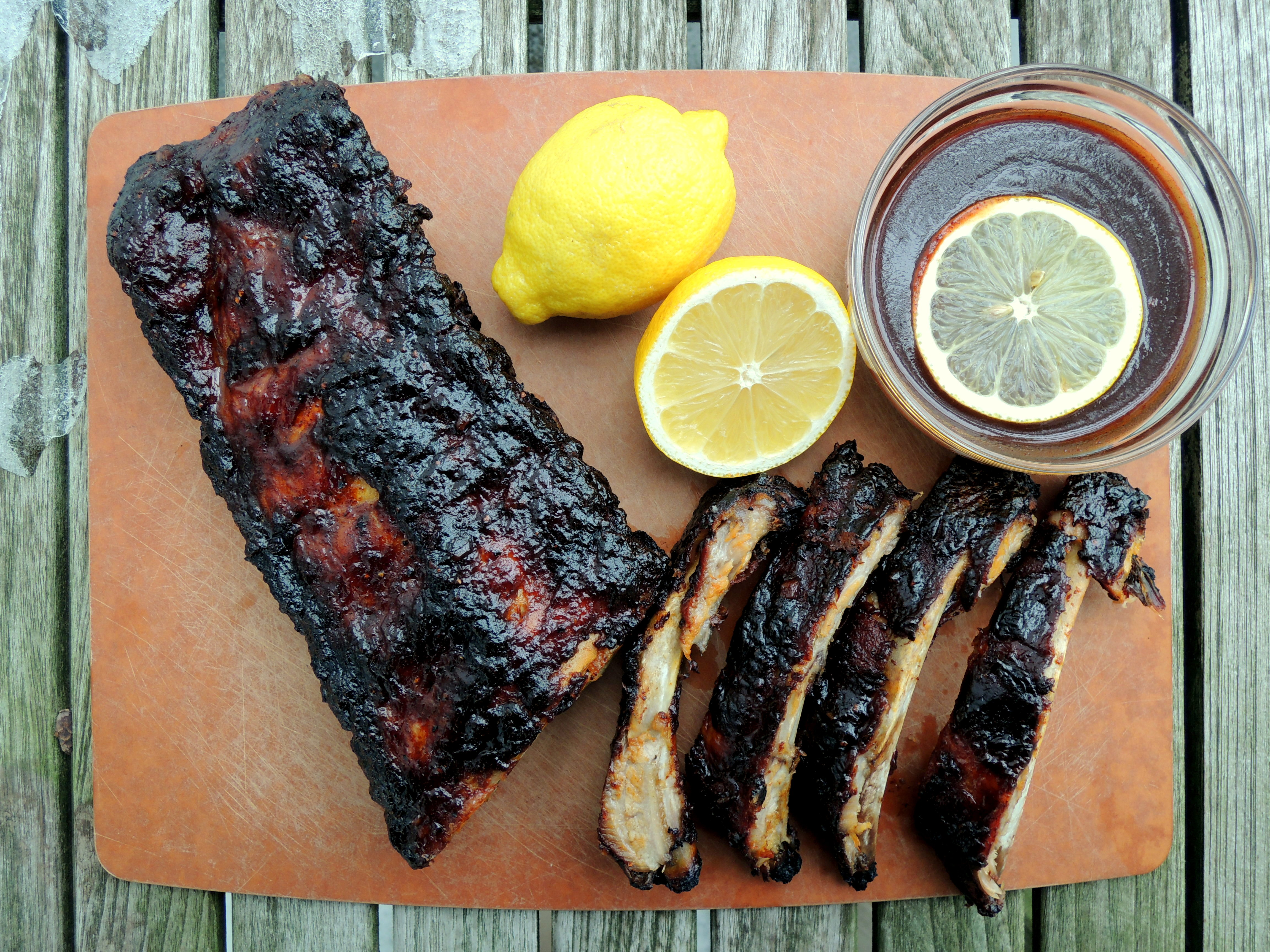 BAKED BABY BACK PORK RIBS WITH SOUTHERN BARBECUE DRY RUB AND WET MOP ...
