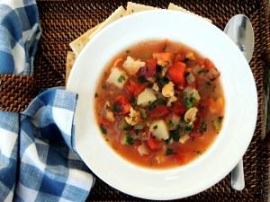 Soups, chowders, Manhattan clam chowder 2