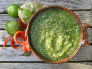Appetizers, dips and spreads, salsa de tomate verde 2