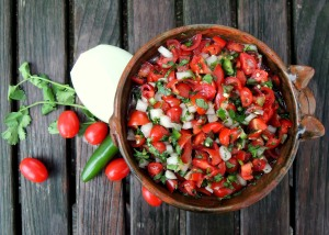 Appetizers, dips and spreads, salsa Mexicana cruda 2