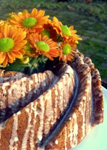 Desserts, cakes, bundt cakes, walnut spice cake with lemon glaze 2