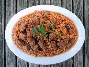 Lamb, stews, Lebanese lamb stew with beans 1