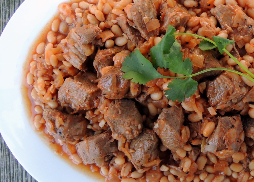 Lamb, stews, Lebanese  lamb stew with beans 2