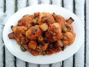 Chicken, fricassees, Cuban fricase de pollo 1