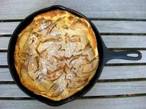 Pancakes, puffed apple pancake 1