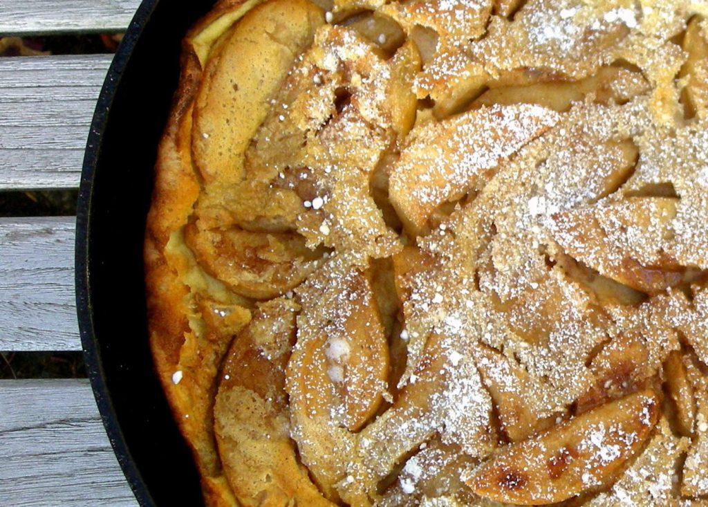Pancakes, puffed apple pancake 2
