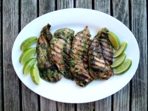 Chicken, sauteed chicken cutlets with Thai herbs 1 (2)