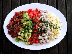 Salads, chopped, Cobb salad 1