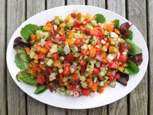 Salads, chopped, Mediterranean chopped salad 1