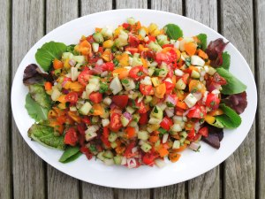 Salads, chopped, Mediterranean chopped salad 1