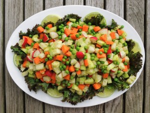 Salads, chopped, Mexican chopped salad 1