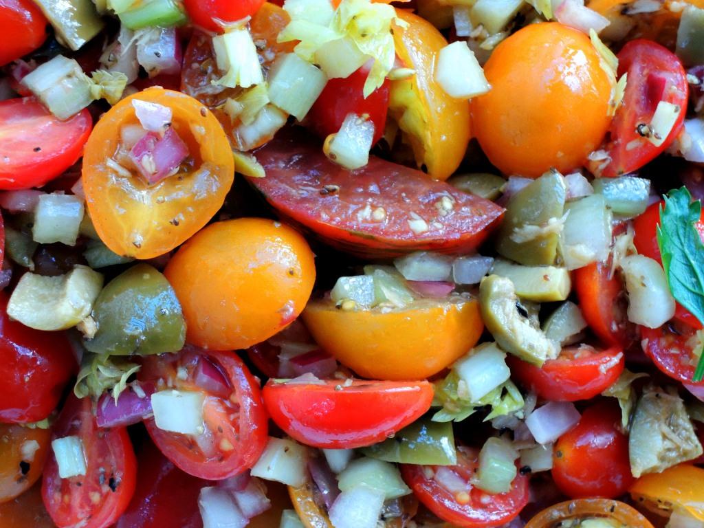 Salads, tomato, bloody mary tomato salad 2
