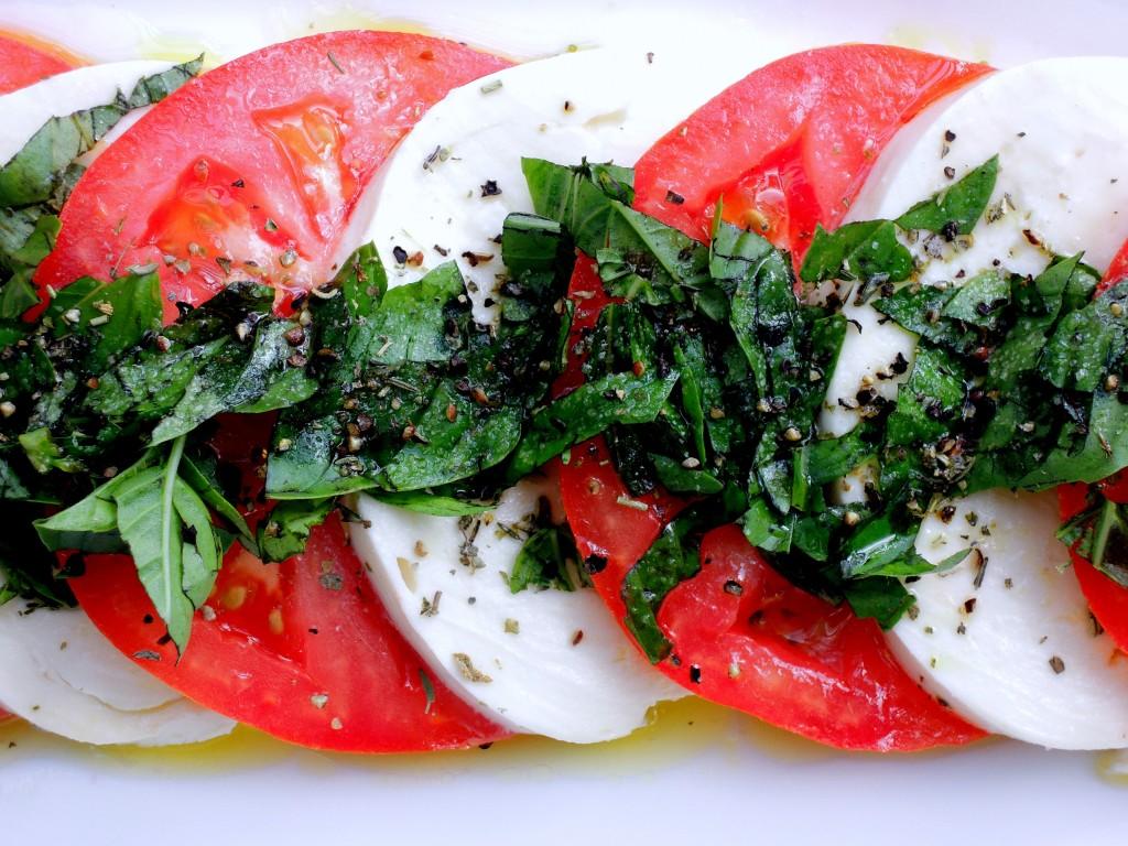 Salads, tomato, insalata Caprese 2