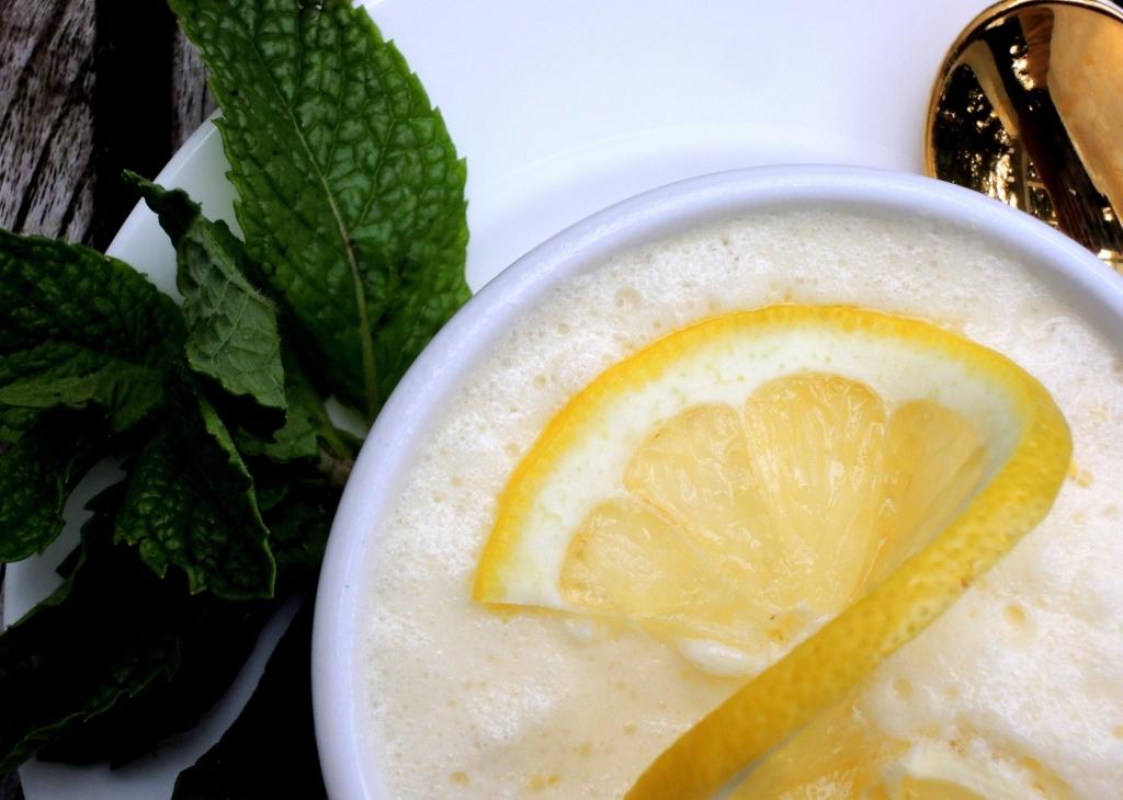 Desserts, gelatins, lemon mousse 2