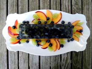 Desserts, gelatins, prosecco and summer fruit terrine 1